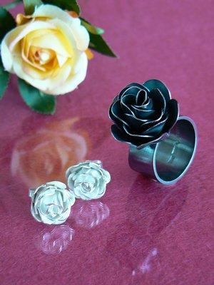 Rosring oxiderat silver