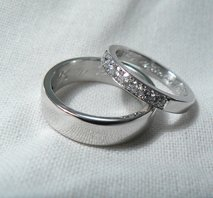 Förlovningsringar i vitguld och diamanter
