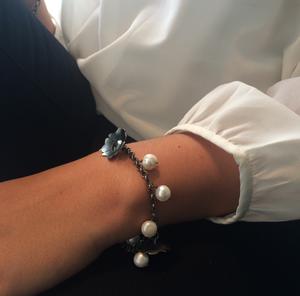 Armband Kurbitsblomma med pärlor